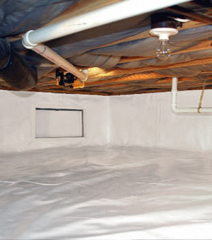 A complete crawl space repair system in Johnson City