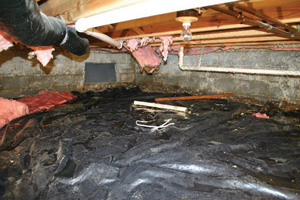 Crawl Space Repair Before in Binghamton