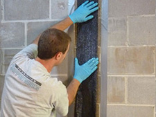 CarbonArmor® Strip applied to wall in Endicott