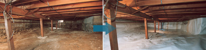 Crawl Space Repair in NY, including Endicott, Elmira & Binghamton.