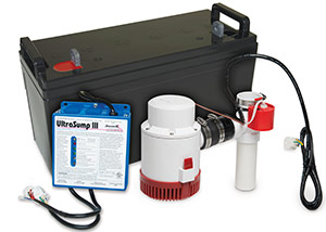 a battery backup sump pump system in Walton