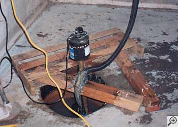 A Port Crane sump pump system that failed and lead to a basement flood.
