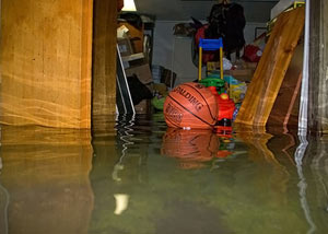 A flooded basement bedroom in Willet