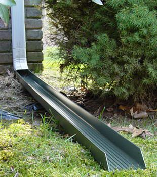Gutter downspout extension installed in Unadilla